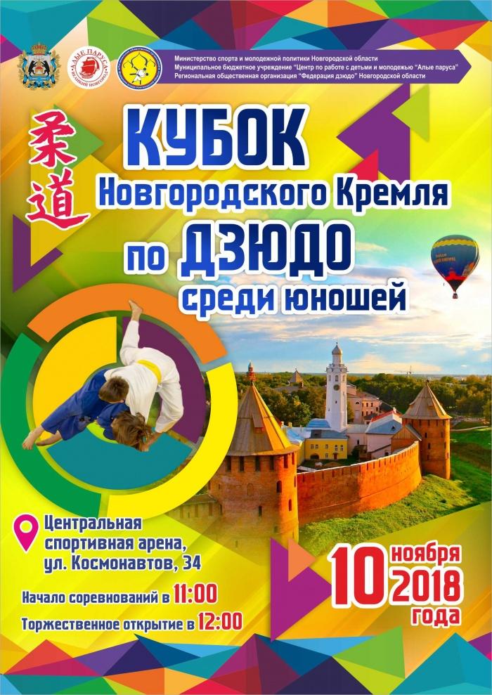 «Кубок Новгородского Кремля» по дзюдо примет более 300 участников