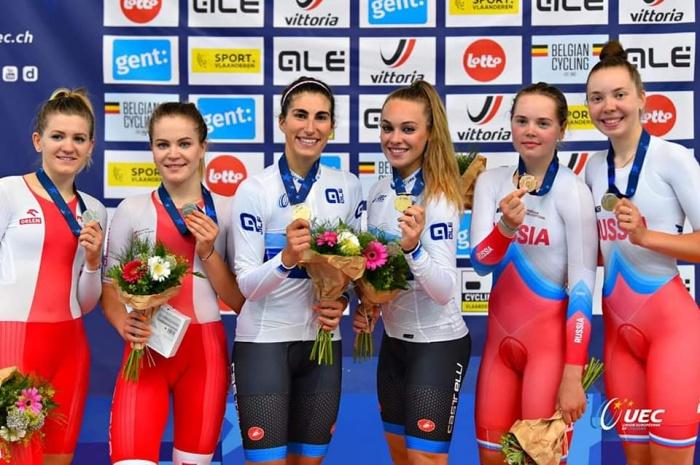 Мария Новолодская стала двукратным призером первенства Европы по велоспорту
