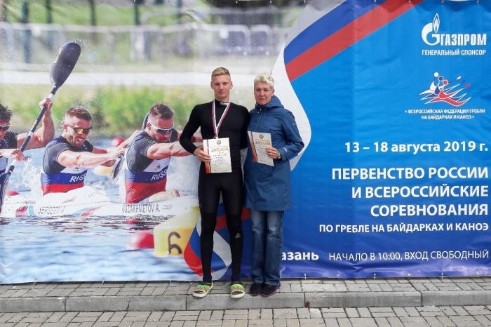 Новгородский байдарочник успешно выступил на национальном первенстве