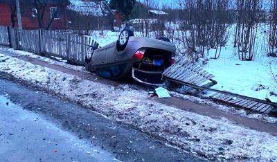 В Новгородской области по вине нетрезвого водителя произошло столкновение трех автомобилей