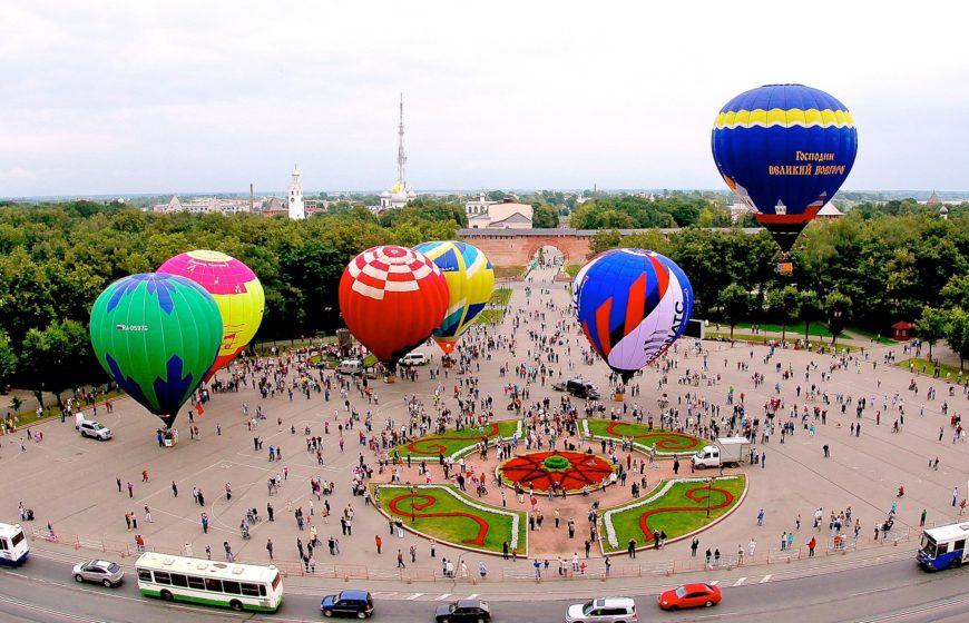 Фестиваль аэростатов. Великий Новгород