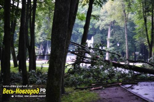 Последствия непогоды в Великом Новгороде 2014